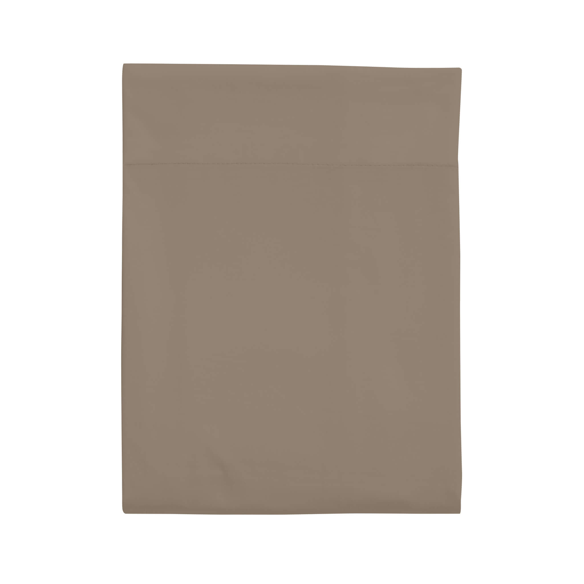 Drap plat taupe 100% coton biologique
