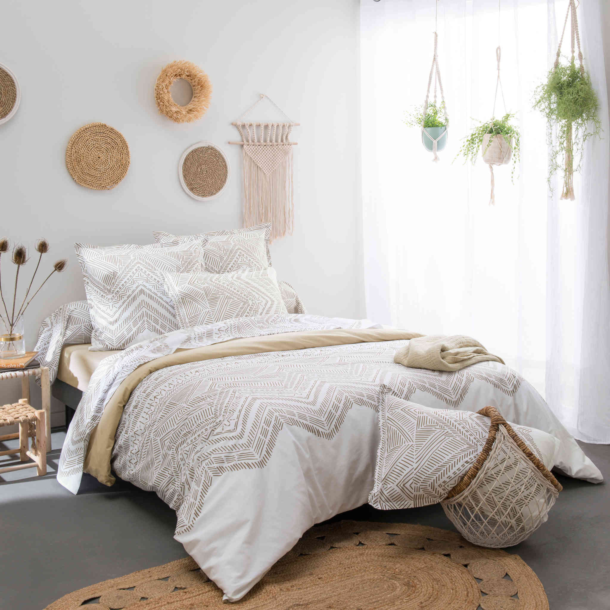 Parure de lit Ramatuelle beige - Tradilinge