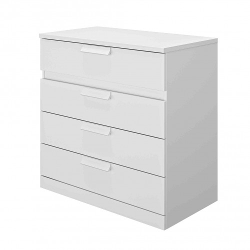 Commode 4 tiroirs en bois blanc - CO5030