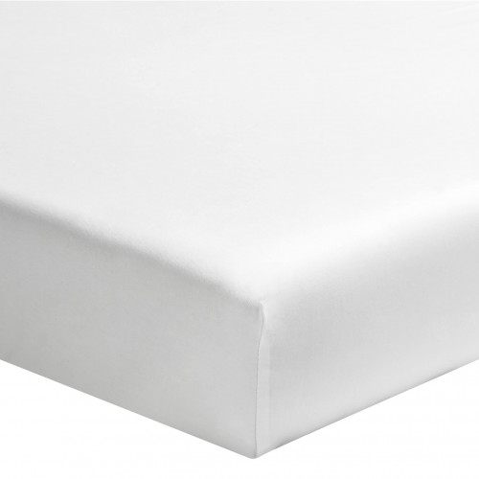 Drap housse percale blanc bonnet 30 cm 110x190 - Hôtellerie