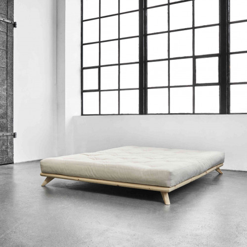 Lit futon en pin massif naturel