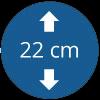 Épaisseur 22 cm